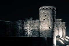 Башни замка Olavinlinna средневекового Стоковые Фото