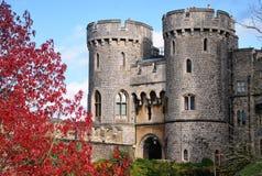 Башни замка Widsor в Великобритании Стоковые Фотографии RF