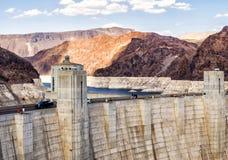 Башни запруды Hoover на мёде озера - Аризоне, AZ Стоковое Изображение