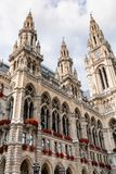 Башни здание муниципалитета вены, Австрии Стоковое фото RF