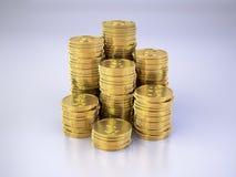 башни золота монеток Стоковые Фотографии RF