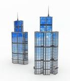 башни зданий самомоднейшие Стоковые Фото