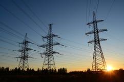Башни линий электропередач Стоковые Изображения RF