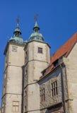 2 башни исторического здания Steinfurt Universit Стоковые Фото