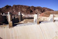 Башни и турбины на запруде Hoover Стоковое Изображение RF