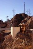 Башни и турбины на запруде Hoover Стоковое Изображение