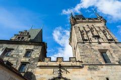 Башни Карлова моста в Праге стоковые изображения rf
