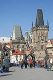 Башни Карлова моста в утре, Праги, чехии Стоковое Изображение RF