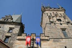 Башни Карлова моста в утре, Праги, чехии Стоковая Фотография