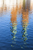 Башни католической церкви отраженные в реке Стоковое Изображение RF
