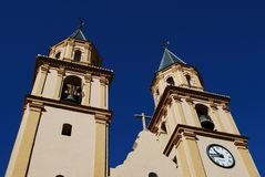 Башни колокола церков, Orgiva, Испания. Стоковые Фото