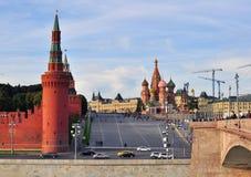 Башни красной площади и Кремля Москвы Стоковая Фотография