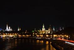 Башни Кремля в вечере Стоковые Фотографии RF