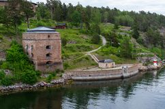 Башни крепости Fredriksborg стоковое изображение rf