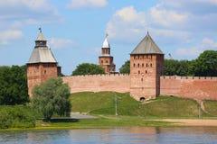 Башни крепости Veliky Новгорода Кремля Стоковые Фотографии RF
