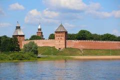 Башни крепости Veliky Новгорода Кремля Стоковые Изображения