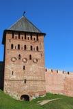 Башни крепости Veliky Новгорода Кремля Стоковая Фотография RF