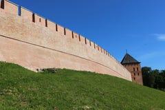 Башни крепости Veliky Новгорода Кремля Стоковое Фото