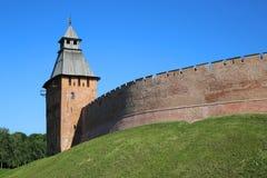 Башни крепости Veliky Новгорода Кремля Стоковое Изображение RF
