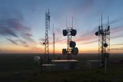 Башни клетки на заходе солнца Стоковое Фото