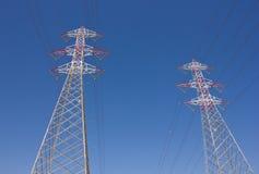 Башни линии электропередач Стоковое Изображение RF