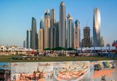 Башни Марины Дубай от skydive Дубай стоковая фотография