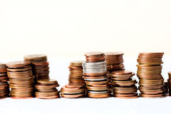 башни монетки Стоковое фото RF