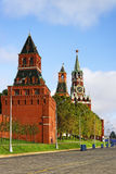 3 башни Москвы Кремля и красной площади Стоковое Изображение RF
