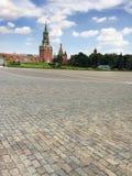 Башни Москвы, России, красной площади и Кремля на летнем дне, Стоковое Изображение RF