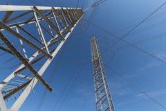Башни передачи в небе Стоковые Фото