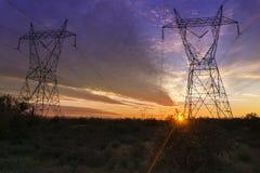 Башни передачи электропитания Стоковое Изображение
