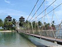 башни подвеса моста Стоковые Изображения RF