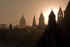 башни профиля kremlin Стоковое фото RF