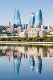 Башни пламени в Баку Стоковые Фотографии RF