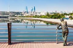 Башни пламени в Баку Стоковое Изображение