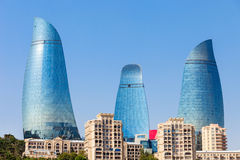 Башни пламени в Баку Стоковое Фото