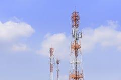 Башни радиосвязи дерева Стоковое Изображение