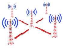 Башни радиосвязи Стоковое Изображение