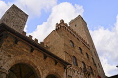 Башни Сан Gimingano Тосканы Стоковое Изображение