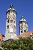 2 башни собора в городе Naumburg, Саксонии-Anhalt, Ger Стоковые Фото