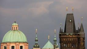 Башни старого городка в Праге Стоковые Изображения