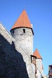 Башни стены городка в Таллине стоковое фото