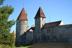 Башни стены городка в Таллине Стоковые Фотографии RF
