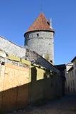 Башни стены городка в Таллине Стоковые Изображения