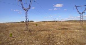 Башни с проводами сток-видео