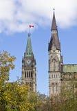 Башни центра и западных блока стоковая фотография