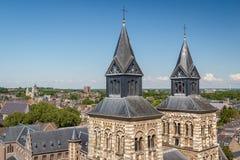Башни церков в Маастрихте Стоковое Изображение RF