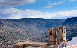 2 башни церков на горизонте Стоковые Изображения