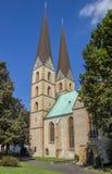 2 башни церков Marien в Билефельде Стоковое Изображение RF