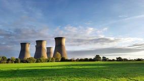 Башни электростанции Стоковое фото RF